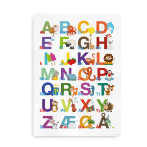 ABC alfabet plakat