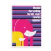 Elefantplakat pink - citatplakat