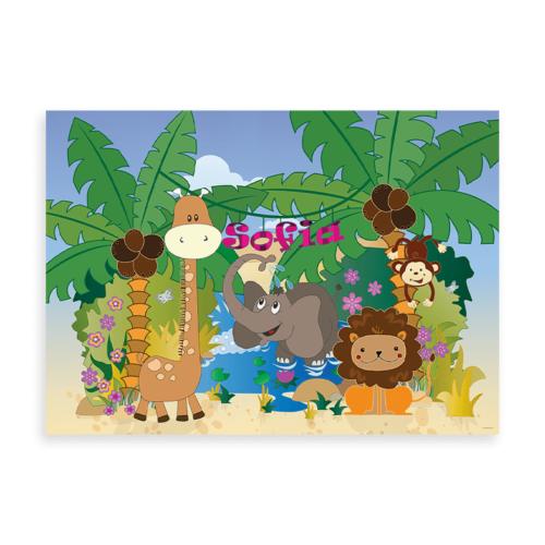 Jungledyr - navneplakat pige