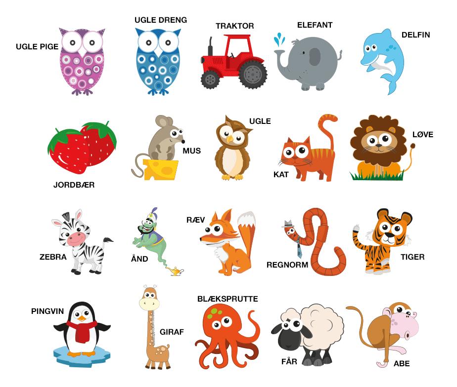 dyr skema