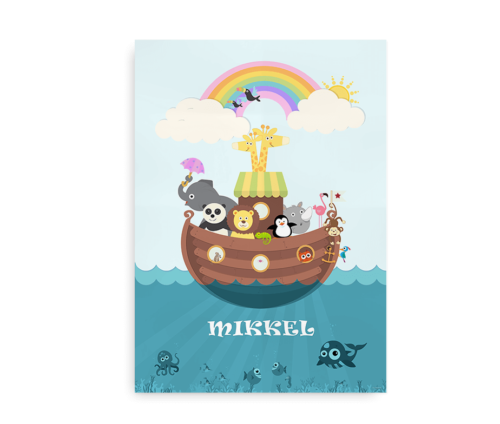 Noahs Ark plakat med navn