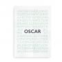 Alfabetplakat med navn - til drenge i neutrale farver