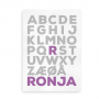 navneplaket alfabet bogstav som i 2