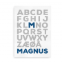 navneplaket alfabet bogstav som i 4