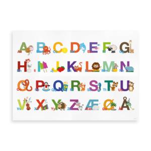 Alfabetplakat horisontal