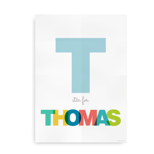 Navneplakat til de typografiske kendere sat med Helvetica - til drenge