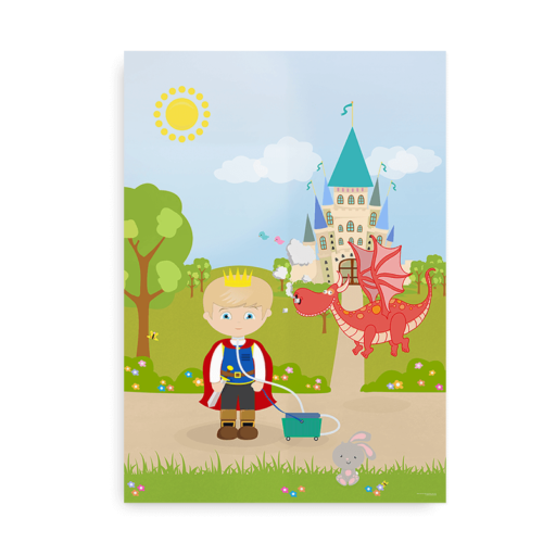 Plakat til drenge med respirator og tracheostomi - CCHS Prince blond - Someone Rare