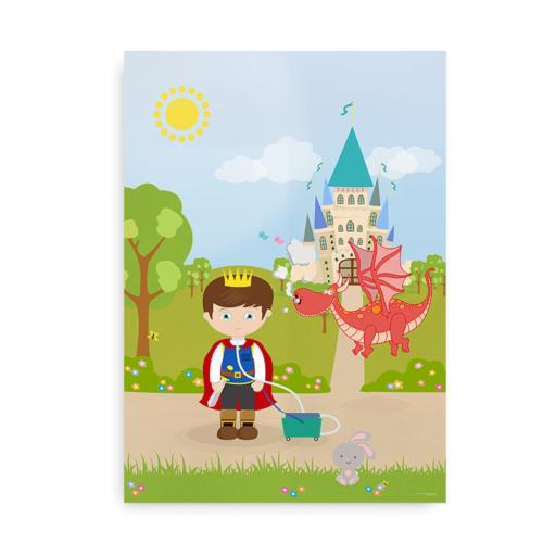 Plakat til drenge med respirator og tracheostomi - CCHS Prince brown hair - Someone Rare