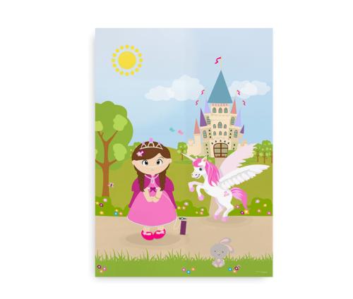 Plakat til piger med iltbrille - CCHS Princess brown hair - Someone Rare