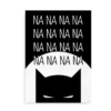 "Plakat med Batman og teksten ""Nananana..."" - sort"