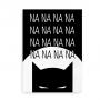 Plakat med Batman og teksten