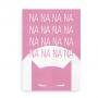 Plakat med Batman til piger - pink