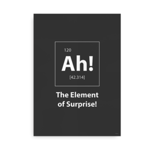 Ah! The element of surprise - grå