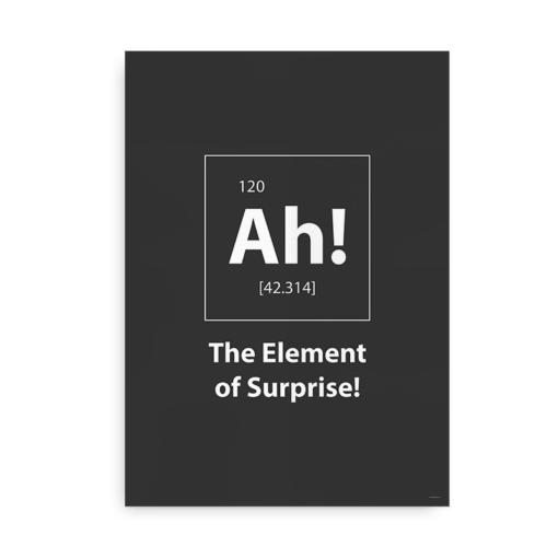 Ah! The element of surprise - grå