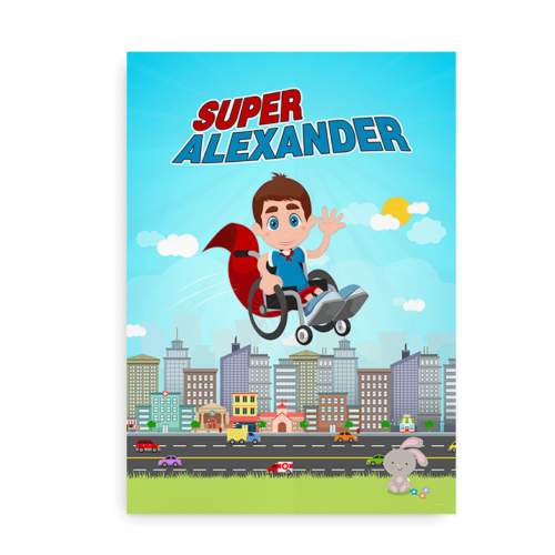 Superhelt i kørestol - langt navn