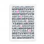 Bogstavsplakat med alfabetet og navn med fremhævet farve - til piger