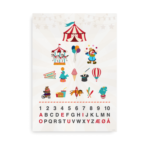Cirkus alfabet plakat
