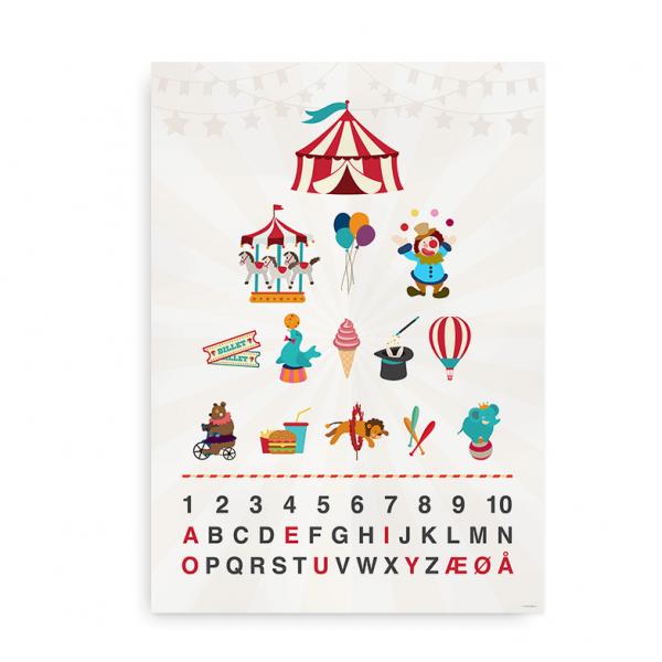 butik abc alfabetplakat plakat med farverige illustrationer