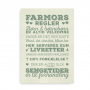 Farmors regler grøn-beige 2