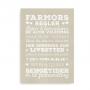 Farmors regler hvid-beige 2