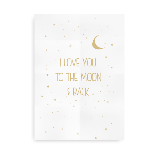 I love you to the moon and back - sand
