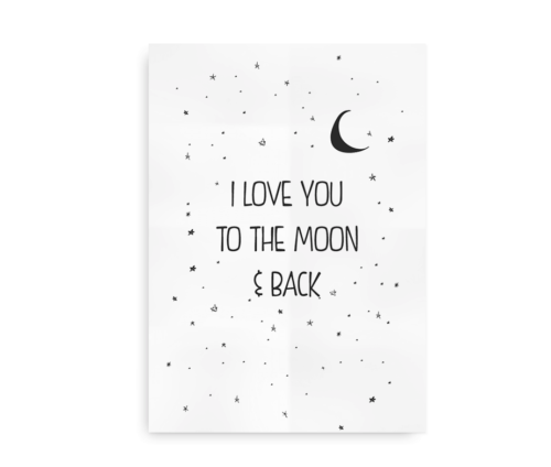 I love you to the moon and back - sort