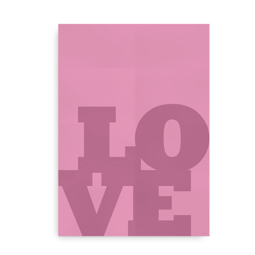 Love Love Love Lyserød