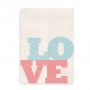 Love Love Love blå-lyserød