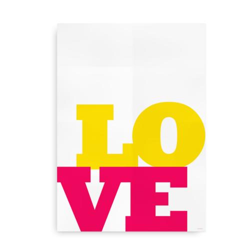 Love Love Love pink og gul