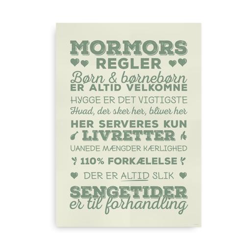 mormors regler grøn-mint