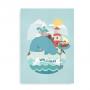Sørøverhval med navn plakat til drenge