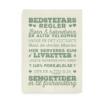 Plakat med Bedstefars husregler - grøn på beige