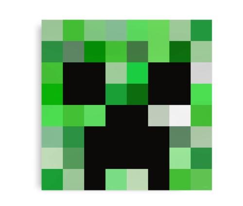Plakat inspireret af Minecrafts Creeper