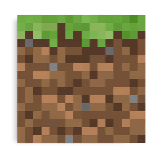 Plakat inspireret af Minecraft