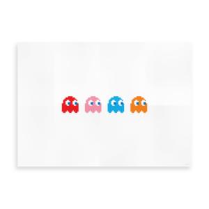 Plakat med spøgelser - Inspireret af Pacman