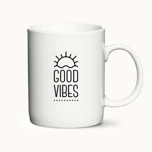 Good Vibes - personligt kaffekrus