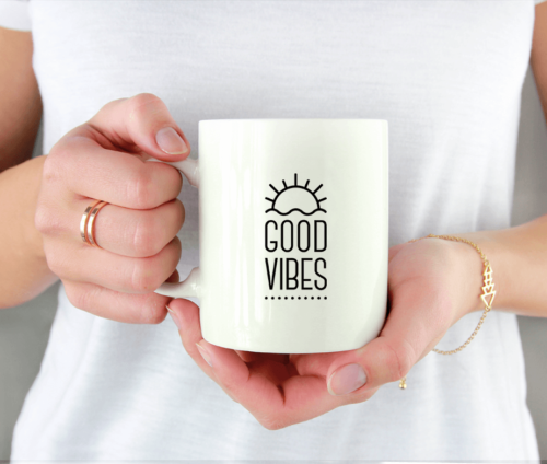 Good Vibes only - krus med citat
