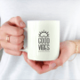 Good Vibes only - krus med citat