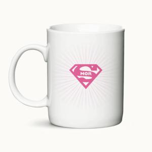 Supermor - kaffekrus gaveidé til mor