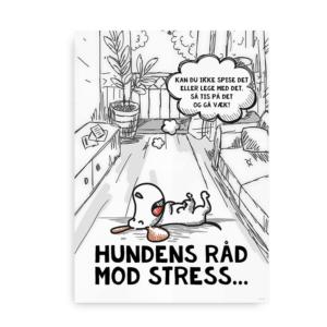 Hundens råd mod stress plakat