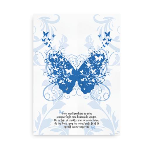 Sommerfugl plakat blå
