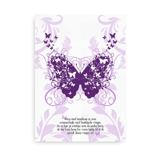 Sommerfugl plakat lilla