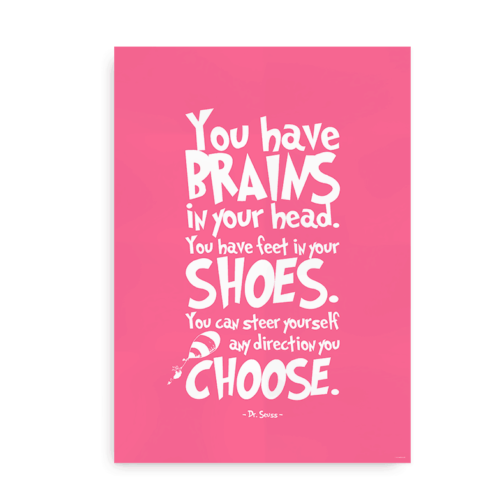 You have brains in your head pink