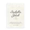 Bryllupsplakat med navne og dato beige