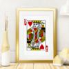 Plakat med Hjerter Konge spillekort