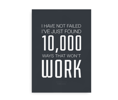 Plakat med Thomas Edison citat -