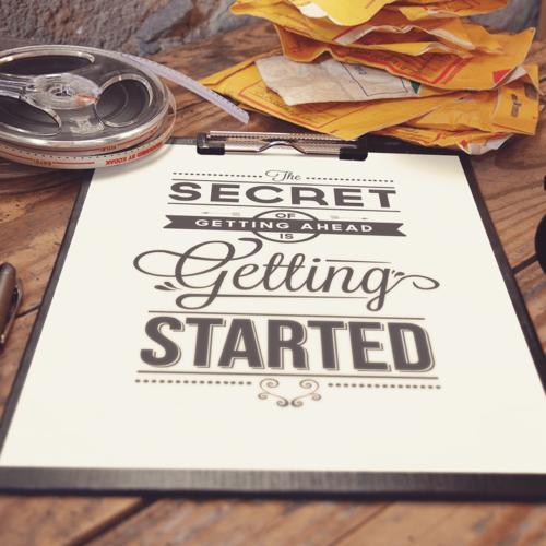 The Secret of Getting Ahead plakat til den kreative