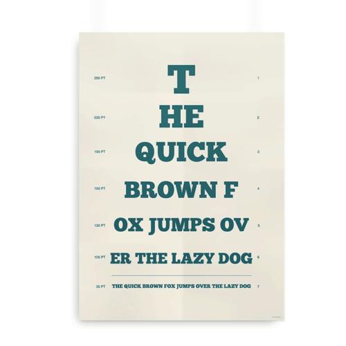 """The quick brown fox"" alternativ synstavle"