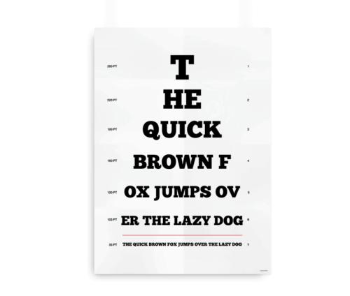 """The quick brown fox"" synstavle til designeren"