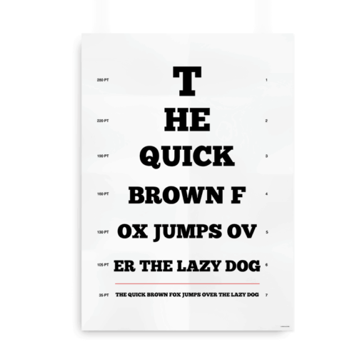 The quick brown fox synstavle sort 2